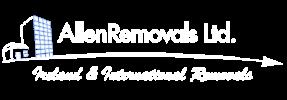 Allen REmovals White Logo